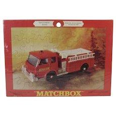 Lesney Matchbox Jigsaw Puzzle Denver Fire Pumper Truck Never Opened in Original Package