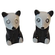 Panda Bear Salt and Pepper Shakers Marked Japan Tableware