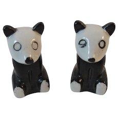 Panda Bear Salt and Pepper Shakers Marked Japan Tableware