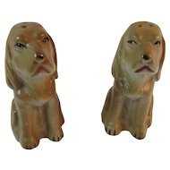 Hound Dog Salt and Pepper Shakers Made in Japan Japanese Tableware