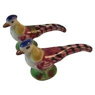 Pheasant or Road Runner Salt and Pepper Shakers Gettysburg National Museum Souvenir Bird Tableware