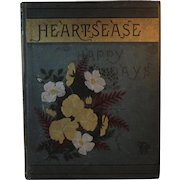 1883 Victorian Poetry and Art Book Heartsease and Happy Days Color Plates by the Author L. Clarkson