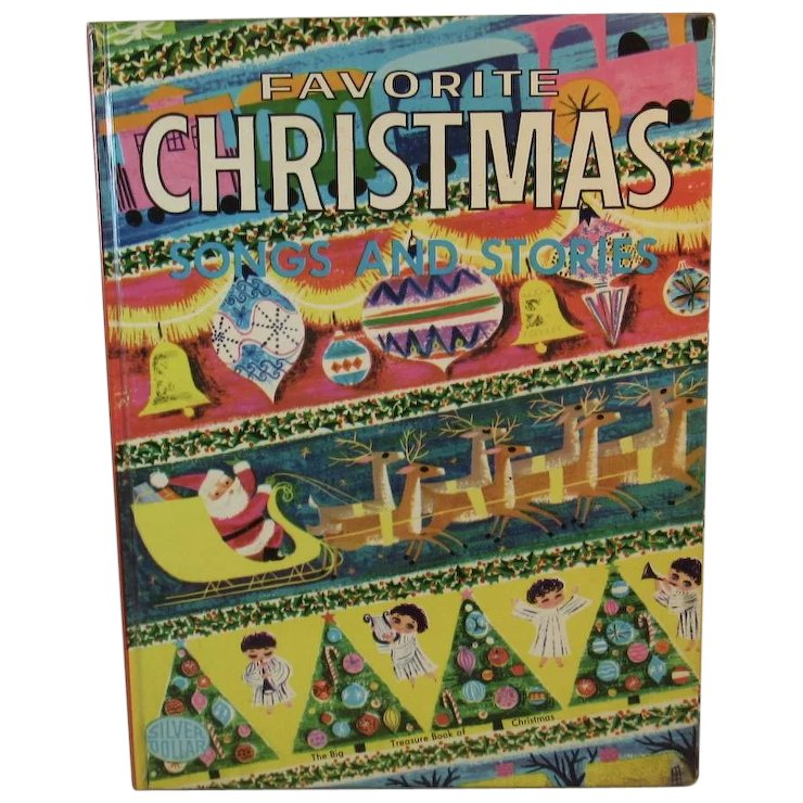 1953 favorite christmas songs and stories book the big treasure book of christmas illustrated by - Favorite Christmas Songs