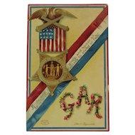 1911 Clapsaddle Signed GAR Grand Army of the Republic Civil War Union Veteran Postcard IAP International Art Publishing Co Germany German Embossed