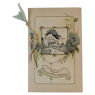 Antique German Booklet Style Confirmation Card Germany Religious Illustrated Embossed Catholic