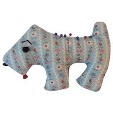 Scottie Dog Pin Cushion Vintage Sewing Pincushion