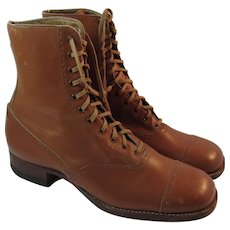 Edwardian Child's Leather Tall Boots Shoes