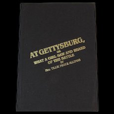 At Gettysburg or What a Girl Saw And Heard of the Battle by Tillie Pierce Alleman Civil War Book Eyewitness Account