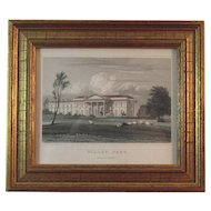 Willey Park Steel Engraving by Thomas Barber after J.P. Neale Picture in Jones Views of the Seats Book