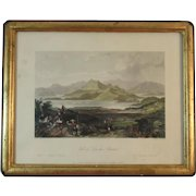 Valley of Ting-hai, Chusan Hand Colored Engraving by S. Bradhsaw after T. Allom and Stoddart Framed Vale
