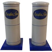 Pyrofax Gas Advertising Salt and Pepper Shakers