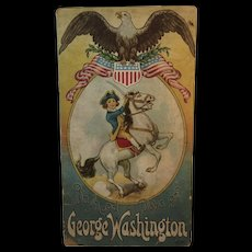 1916 Boyhood Days of George Washington Children's Book by Carolyn Hodgman, Levering Illustrations by Stecher Lithograph Co