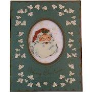 1950s Santa Thru Vue Christmas Card Thru-Vue Embossed
