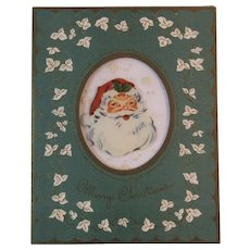 1950s Santa Thru Vue Christmas Card Thru-Vue Embossed