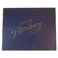 1905 Souvenir of Pittsburg Book with Black and White Photographs of Pittsburg, PA Sites