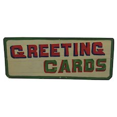 Country Store Hand Made Greeting Cards Sign Pennsylvania Folk Art