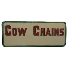 Country Store Hand Made Cow Chains Sign Pennsylvania Folk Art