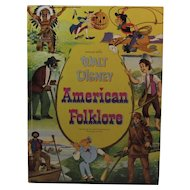 1956 Walt Disney American Folklore Childrens Book Whitman Includes Davy Crockett, Brer Rabbit and Hiawatha