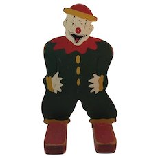 Carnival Knock Down Arcade Clown Wood with Original Paint Knockdown