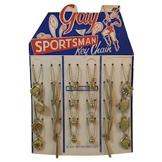 Gay Sportsman Key Chain Baseball NOS Store Display Never Used Keychains