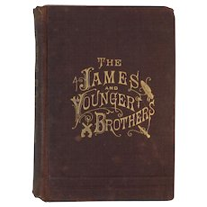 1882 Illustrated Lives and Adventures of Frank and Jesse James and the Younger Brothers Book by Dacus Noted Western Outlaws