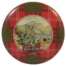 Crawford's Scotch Shortbread Tartan Plaid Christmas Litho Tin Scottish Scotland