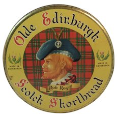 Olde Edinburgh Rob Roy Scotch Shortbread Litho Tin from Edinburgh and Dumfriesshire Dairy Co Ltd Scottish Scotland Tartan Plaid