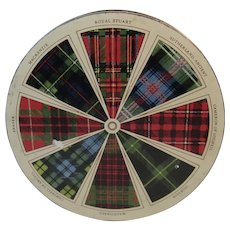 Lyons Dundee Fruit Cake Litho Tin with Tartan Plaid Decoration Scottish Scotland