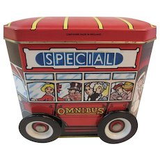 London Special Omnibus Candy Tin with Working Wheels from Craven & Son Ltd England English