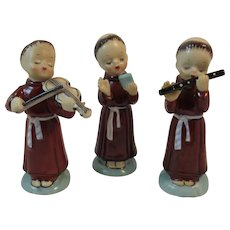 Franciscan Friars Musicians and Carolers Figurines Set Catholic Monks Made in Japan Religious or Christmas Decor