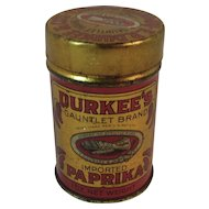 Durkee's Gauntlet Brand Imported Paprika Spice Tin