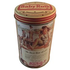 Curtiss Baby Ruth Tin by Bristol Ware for Nabisco Fishing Ad