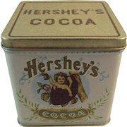 Chein Hershey's Cocoa Tin by Bristol Ware for Nabisco Cherub in a Cocoa Bean