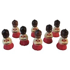 8 Gurley Choir Boy Christmas Candles Black Americana African American