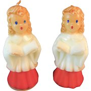 2 Gurley Large Choir Girl 5 Inch Christmas Candles