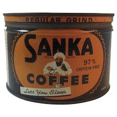 Old Sanka Coffee Tin One Pound