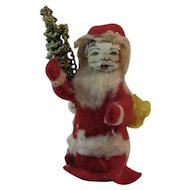Early Santa Claus with Paper Face, Tree and Cotton Batting