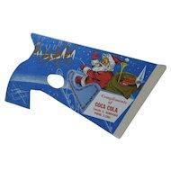 1954 Coca Cola Christmas Cardboard Pop Gun Toy Santa in Sleigh and in Workshop Unused