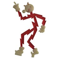 Reddy Kilowatt Figurine Hard Plastic Electric Company Advertising