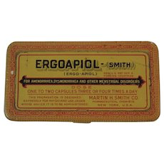 Ergoapiol Tin Medical Quackery for Menstrual Disorders by Smith & Co Cureall
