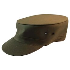 1950s US Army Louisville Spring Up Cap Hat Korean War Era Size 7 & 1/8 Military