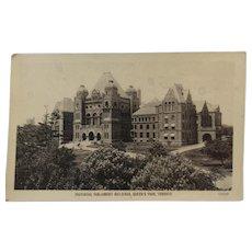 1907 Postcard Provincial Parliament Toronto Canada Valentine & Sons Glace Series