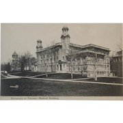 1907 Postcard University of Toronto Medical Building Canada Valentine & Sons