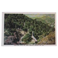 Postcard Horse Shoe Curve, Mt. Lowe, California