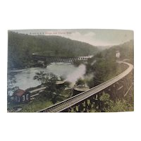 Postcard, circa 1909, B & O Railroad Bridge over Clarion River