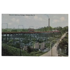 Postcard, circa 1911, Electric Railway Bridge, Painesville, Ohio