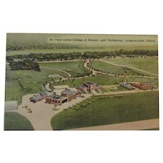 Postcard, Air View Lewis College of Science and Technology, Lockport-Joliet, Illinois