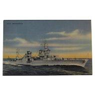 Official U. S Navy Photograph Postcard U.S.S. Indianapolis