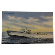 Official U. S Navy Photograph Postcard of a Patrol Torpedo Boat