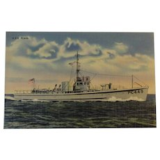 Official U. S Navy Photograph Postcard of U. S. S. PC449